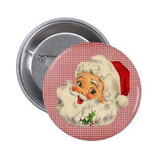 Vintage Santa Claus Button