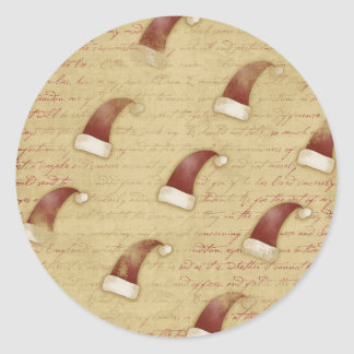 Vintage Santa Claus Cap Christmas Stickers