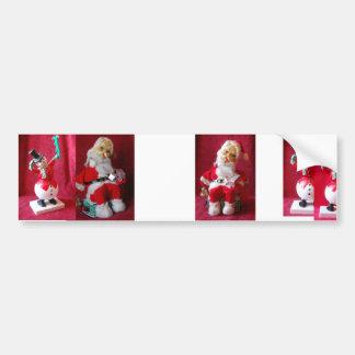 Vintage Santa Claus Car Bumper Sticker