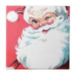 Vintage Santa Claus Ceramic Tile