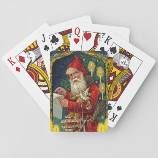 Vintage Santa Claus Checking List Playing Cards