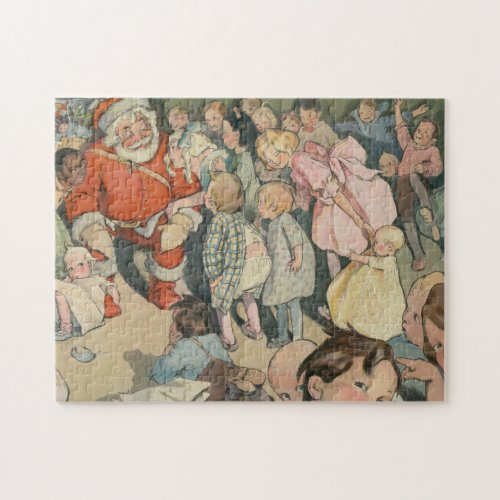 Vintage Santa Claus  Children Illustration 1903 Jigsaw Puzzle