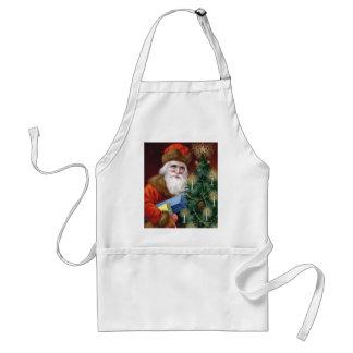 Vintage Santa Claus Christmas Apron