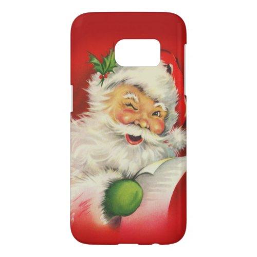 Vintage Santa Claus Christmas Phone Case