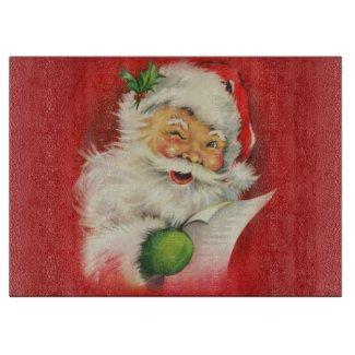 Vintage Santa Claus Christmas Cutting Board