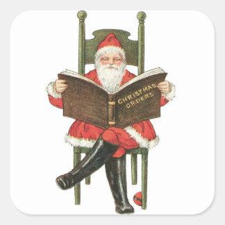 Vintage Santa Claus Christmas Fun Stickers
