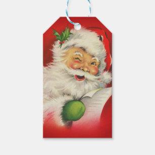 TWELVE Petite Vintage Style Christmas Gift Tags  Keepsake  Retro Pink Tags