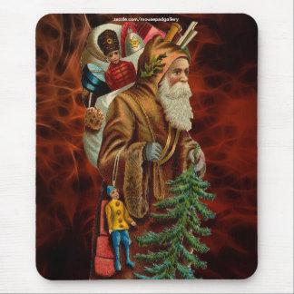 Vintage Santa Claus & Christmas Gifts Mousepad