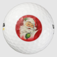 Vintage Santa Claus Christmas Golf Balls