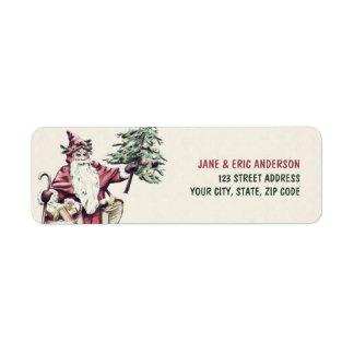 Vintage Santa Claus Christmas labels