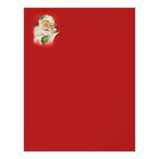 Vintage Santa Claus Christmas Letterhead