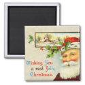 Vintage Santa Claus Christmas Magnet