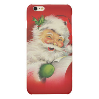Vintage Santa Claus Christmas Matte iPhone 6 Plus Case
