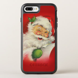 Vintage Santa Claus Christmas OtterBox Symmetry iPhone 8 Plus/7 Plus Case