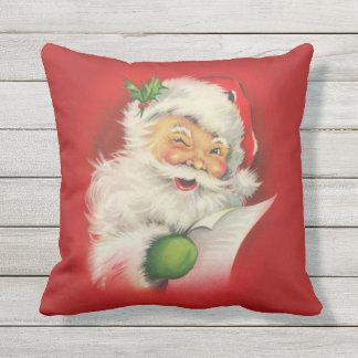 Vintage Santa Claus Christmas Outdoor Pillow