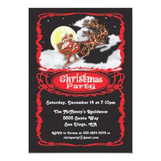 Vintage Santa Claus Christmas Party Invitaions Card