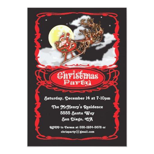 Retro Christmas Party Invitations: Vintage Christmas Invitations, 1900+ Vintage Christmas