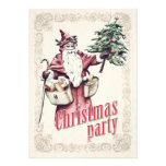 Vintage Santa Claus Christmas Party invitation