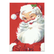 Vintage Santa Claus Christmas Party Invitation
