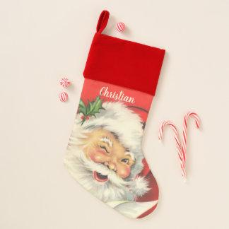 Vintage Santa Claus Christmas Personalized Christmas Stocking