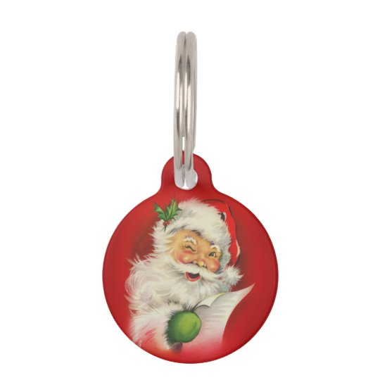 vintage santa claus christmas pet name tag - Christmas Pet Names