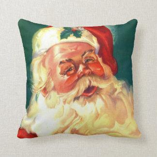 Vintage Santa Claus Christmas Pillow