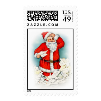 Vintage Santa Claus Christmas Postage Stamps