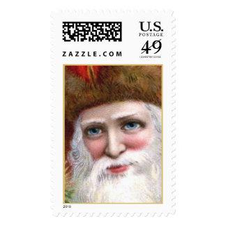 Vintage Santa Claus Christmas Postage Stamps Large