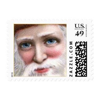 Vintage Santa Claus Christmas Postage Stamps Small