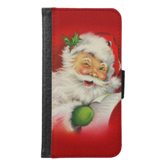 Vintage Santa Claus Christmas Samsung Galaxy S6 Wallet Case