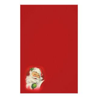 Vintage Santa Claus Christmas Stationery