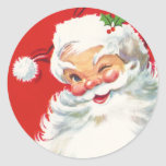 "Vintage Santa Claus Christmas sticker<br><div class=""desc"">Perfect vintage sticker for your Christmas cards. Seal your envelopes with a bit of Holiday Cheer with these delightful antique Christmas seals.</div>"