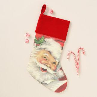 Vintage Santa Claus Christmas Stocking