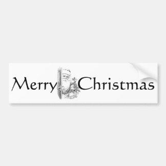 Vintage Santa Claus Comes Through The Door! Bumper Sticker