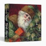 "Vintage Santa Claus Custom Christmas 1"" Binder"