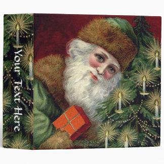 "Vintage Santa Claus Custom Christmas 2"" Binder"