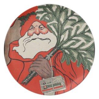 Vintage Santa Claus Dinner Plate