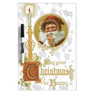 Vintage Santa Claus Dry Erase Board