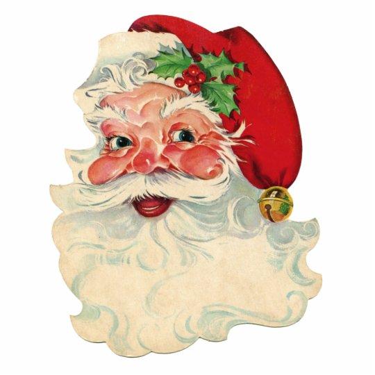 Vintage Santa Claus Face Cut Out Merry Christmas! | Zazzle.com