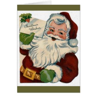 Vintage Santa Claus Face Gifts Card