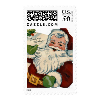 Vintage Santa Claus Face Gifts Postage
