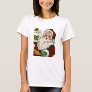 Vintage Santa Claus Face Gifts T-Shirt