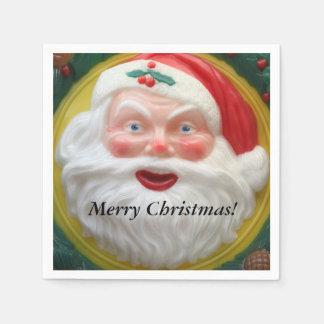 Vintage Santa Claus face Paper Napkin