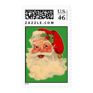Vintage Santa Claus Face Postage