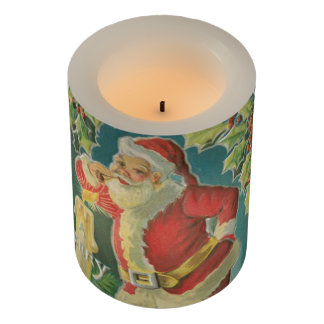 Vintage Santa Claus Flameless Candle