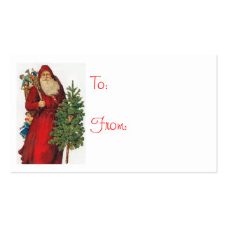 Vintage Santa Claus Gift Tags Business Card