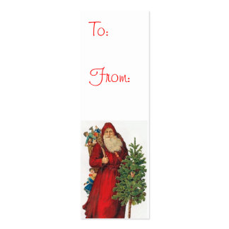 Vintage Santa Claus Gift Tags Mini Business Card