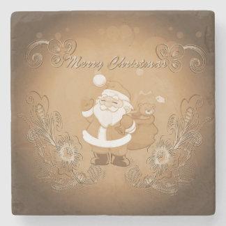Vintage Santa Claus Stone Beverage Coaster
