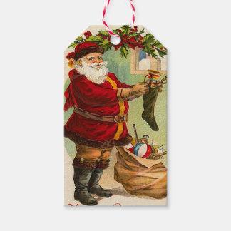 Vintage Santa Claus Holiday Gift Tags