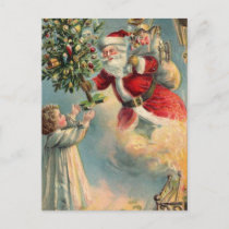 Vintage Santa Claus Holiday Postcard